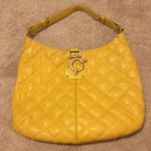 Yellow Quilted Leather J. Crew Hobo Handbag